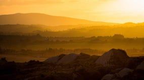 Заход солнца Италии Стоковая Фотография RF