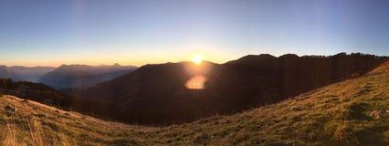 Заход солнца Италии Стоковые Изображения RF