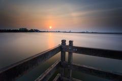 Заход солнца и восход солнца стоковое изображение rf