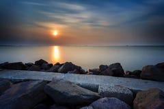 Заход солнца и восход солнца стоковая фотография