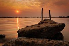 Заход солнца или восход солнца? Стоковая Фотография RF