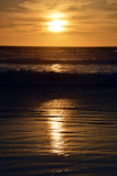Заход солнца и океан Стоковая Фотография RF