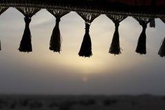 заход солнца иллюстрации пустыни 3d Стоковые Фотографии RF