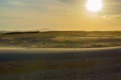 заход солнца иллюстрации пустыни 3d Стоковое Изображение