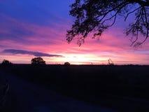 Заход солнца Йоркшира стоковые изображения rf