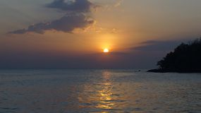 Заход солнца Камбоджи Стоковая Фотография RF