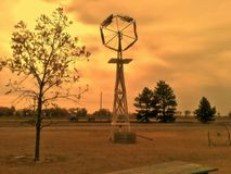 Заход солнца Канзаса Стоковое фото RF