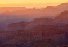 заход солнца каньона Аризоны грандиозный Стоковые Фото