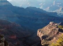 заход солнца каньона Аризоны грандиозный Стоковое Изображение