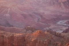 заход солнца каньона Аризоны грандиозный Стоковое фото RF
