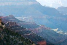 заход солнца каньона Аризоны грандиозный Стоковое Изображение RF
