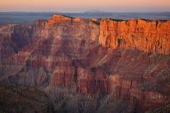 заход солнца каньона Аризоны грандиозный Стоковая Фотография RF
