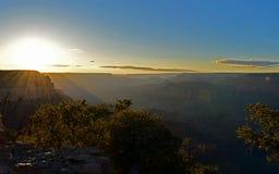 заход солнца каньона грандиозный Стоковые Фото