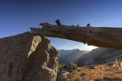 Заход солнца каньона Стоковые Изображения RF