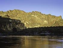 Заход солнца, каньон Owyhee Стоковые Изображения RF