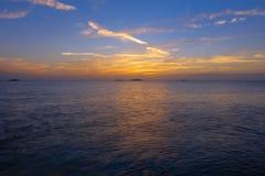 Заход солнца карибского острова Стоковые Изображения