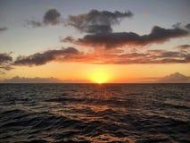 Заход солнца Кауаи Стоковые Фото