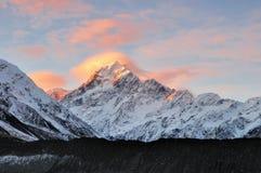 Заход солнца кашевара Mt Стоковая Фотография RF