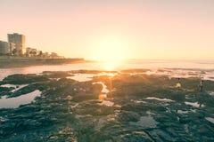 Заход солнца Кейптауна Стоковое Фото