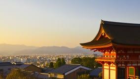 Заход солнца Киото Стоковые Фотографии RF