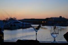 заход солнца 2 коктеилов Стоковая Фотография RF