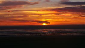 Заход солнца конематки Weston супер Стоковая Фотография RF