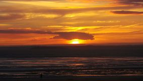 Заход солнца конематки Weston супер Стоковые Фото