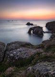 Заход солнца конца земель Стоковые Фотографии RF