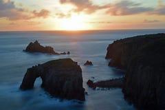 Заход солнца конца земли стоковые изображения rf