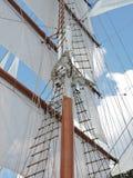 заход солнца корабля sailing ландшафта 3d Стоковое фото RF