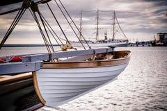 заход солнца корабля sailing ландшафта 3d Стоковое Фото
