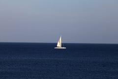 заход солнца корабля sailing ландшафта 3d Стоковая Фотография