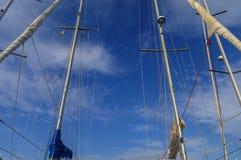 заход солнца корабля sailing ландшафта 3d Стоковое Изображение