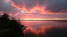 Заход солнца коралла Стоковая Фотография
