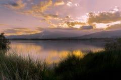 заход солнца Корсики стоковое фото rf