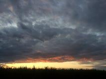 Заход солнца колодца Jacobs Стоковое Изображение