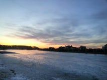 Заход солнца красивый Стоковое Изображение