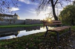 Заход солнца крепости болота Стоковая Фотография RF