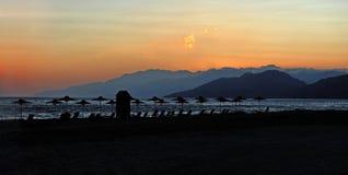 Заход солнца Крита Стоковая Фотография RF