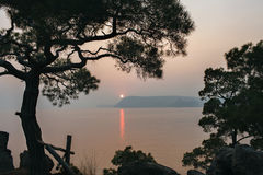 заход солнца Крыма Стоковые Фото
