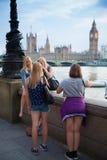 Заход солнца Лондона парламент домов ben большой Стоковое фото RF