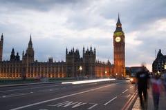 Заход солнца Лондона парламент домов ben большой Стоковые Фотографии RF