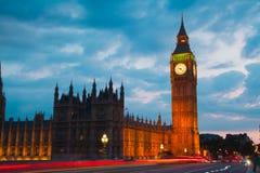 Заход солнца Лондона парламент домов ben большой Стоковое Изображение RF