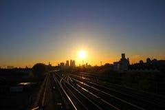 Заход солнца Лондона Стоковое фото RF