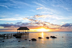 Заход солнца Маврикия Стоковое Фото