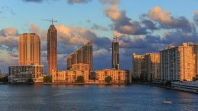 Заход солнца Майами акции видеоматериалы