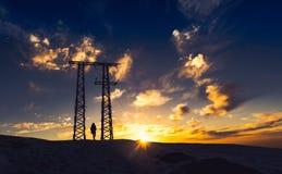заход солнца Марокко Стоковые Фотографии RF
