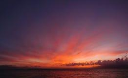 Заход солнца Мауи Стоковое Изображение RF