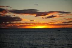 Заход солнца Мауи Стоковое Изображение