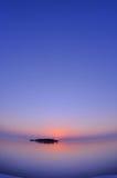 Заход солнца Мальдивов Стоковые Фотографии RF